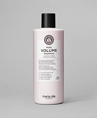 Maria Nila - Pure Volume Champú 350 ml | Champú para mayor volumen - Vitamina B5