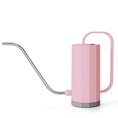 YYGoo Indoor Watering Can, Modern Style Watering Pot with Long Spout, Small Size for House Bonsai Plants Garden Flower, 40oz/1.2L (Pink)