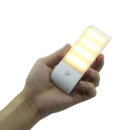 otion Sensor Garderobeverlichting, LED USB Oplaadbaar Onder kabinet Kast Kastverlichting met magnetische strip Plak overal aan Auto Aan/uit Voor Garderobekast Gang Keuken Slaapkamer