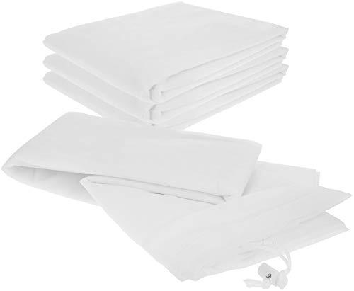 com-four® 4X Pflanzenschutzsack aus Gartenvlies - Abdeckvlies zum Schutz vor Witterung und Tieren - Winterschutz für Pflanzen (04 Stück - Schutzsack)
