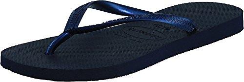 Havaianas Women's Slim Flip Flop Sandal, Navy Blue, 9-10