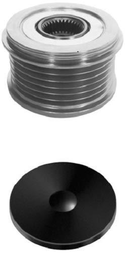 HELLA 9XU 358 039-091 Generatorfreilauf - M16x1,5 - Anzahl der Rillen: 6 - mit Kappe