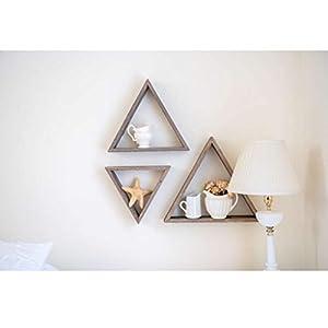 BarnwoodUSA Rustic Shelves, Triangle Floating Wood Shadowbox,...