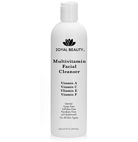 Best Face Wash-Multi Vitamin Facial Cleanser for Women Man. Gentle Face Cleanser with Vitamin C,Vitamin E,Vitamin A,Vitamin F. Best Anti-aging Non-drying SLS-free Face Wash for All Skin Types.