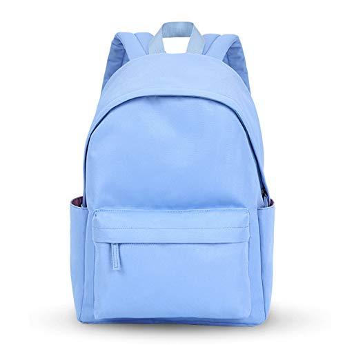 Acmebon Legerer, wasserfester Rucksack für Jungen und Mädchen. Einfarbiger Rucksack für Jugendliche Blau