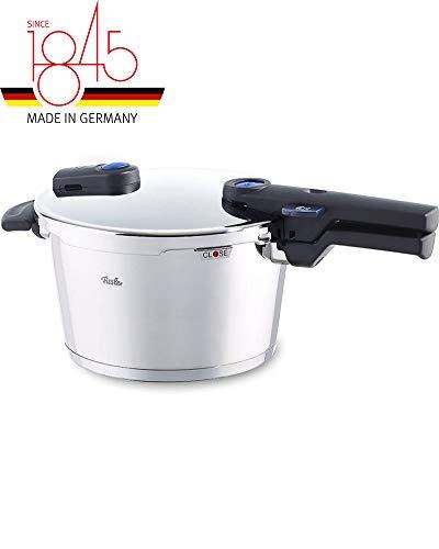 Fissler vitaquick / Olla a presión (4,5 litros, Ø 22 cm) acero inoxidable, 2 niveles de cocción, adecuado para la inducción