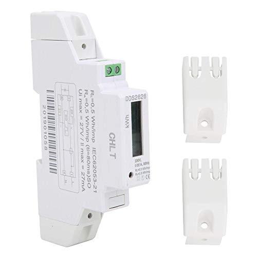 5 (32) A Stromzähler, 1P Einphasiger Stromzähler KWH Meter, 35 mm DIN Schienen Energiezähler