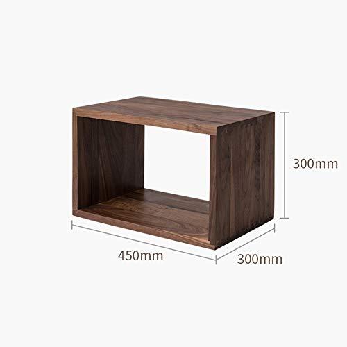 Madera Sistema de almacenamiento del cubo, Libre combinación de gabinete Marco de Movible Fijo, Modular Abierto Estanterías librerias Soporte Gabinete organizador-Pacana 45x30x30cm(18x12x12inch)