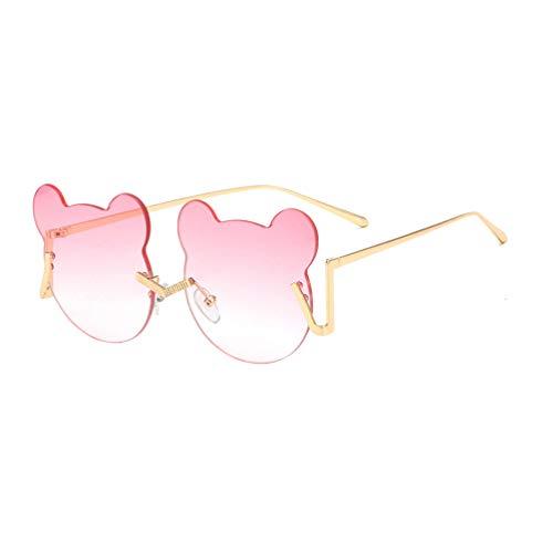 TOYANDONA Partij Zonnebril Brillen Beer Vormige Aankleden Brillen Rekwisieten Nieuwigheid Zonnebril Glazen Voor Pasen Carnaval Gunst Partij Leveranciers Roze