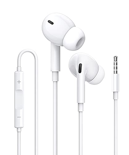 Auriculares,Auriculare In Ear, Cascos con Cable y Micrófono Headphone Sonido Estéreo para...
