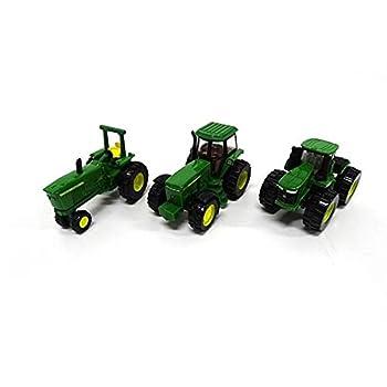 ERTL Iron John Deere Tractor Toy 3-Pack - Includes John Deere 9620R 4020 and 4960 Tractors
