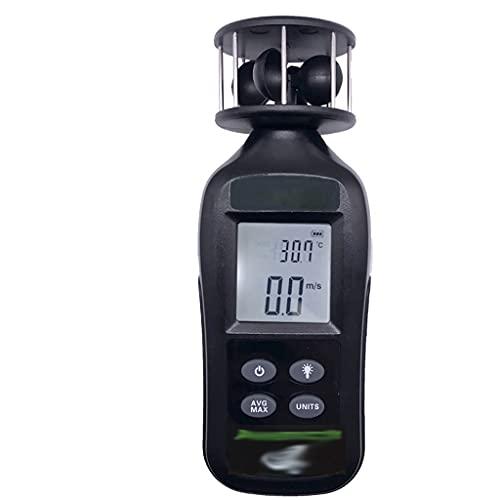 BGQFWB Anemómetro de manemómetro digital para medir la velocidad del viento, la temperatura y el enfriamiento del viento con LCD retroiluminado