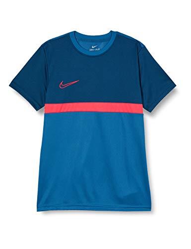 Nike Dri-Fit Academy PRO T-Shirt, Blu Industriale/Laser Crimson, L Unisex-Bambini