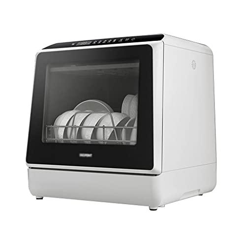 Zheng Hui Shop Lavavajillas De Sobremesa Totalmente Automático, Depósito De Agua Integrado De 5L, 6 Programas, Lavado con Doble Rociador De 360 ° hacia Arriba Y hacia Abajo
