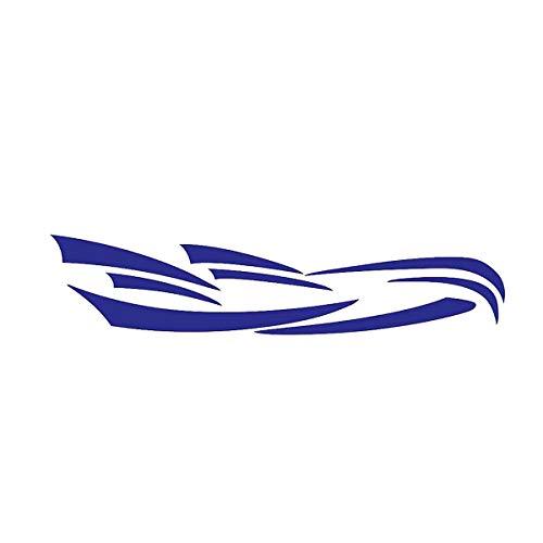 Pestelle RV Camping-Car Universel Corps Autocollant Bricolage Graphiques DéCalcomanie Autocollant DéCoration pour Caravane Remorque Bleu
