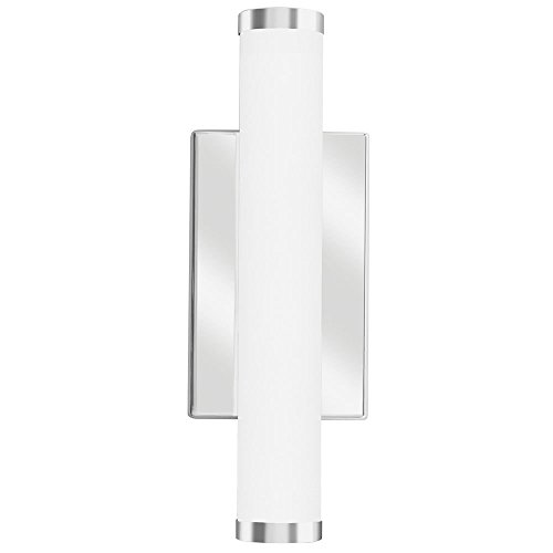 Lithonia Lighting Contemporary Cylinder 1 Foot Chrome 3K LED Decorative Wall Light, Sconce