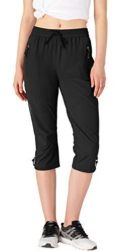 donhobo Pantalones 3/4 para mujer, para exterior, para senderismo,...