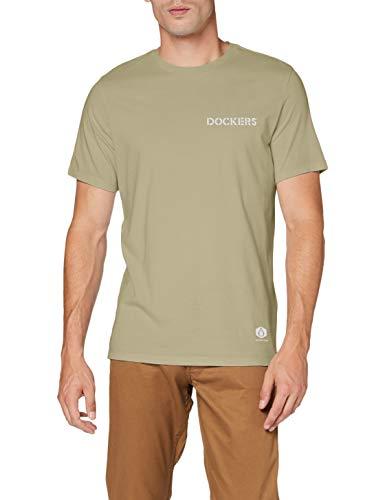 Dockers Sustainable tee Camiseta, London Fog, 36 Unisex Adulto