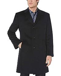 Kenneth Cole New York Mens Reaction Raburn Wool-Blend Top Coat