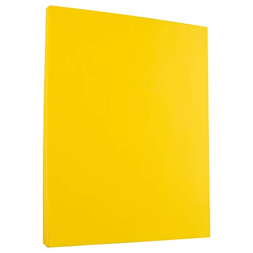 JAM PAPER Colored 24lb Paper - 90 GSM - 8.5 x 11 - Yellow Recycled - 100 Sheets/Pack