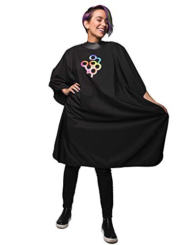 Framar Cutting Cover Barber Cape - Hair Cutting Cape with Snap Closure and Rubberized Collar, Haircut Cape, Salon Cape - Hair Cape for Cosmetology Supplies and Barber Supplies