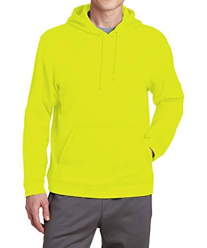 Neon Mens Pullover Yellow Sweatshirt - Adult Hooded Long Sleeve Fleece Hoodie Men Yellow (XL)