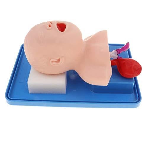 yunyu Stillpuppe Säugling Trachealpuppe Baby Model Atemwegsmanagement Trainer Intubation Puppe Studienunterricht (Neugeboren)
