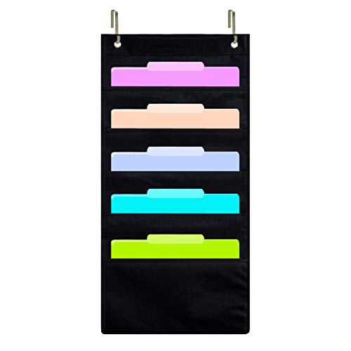 zkoo para colgar organizador de carpeta de archivos Holder cascada con tela, hogar escuela oficina aula archivador de almacenamiento
