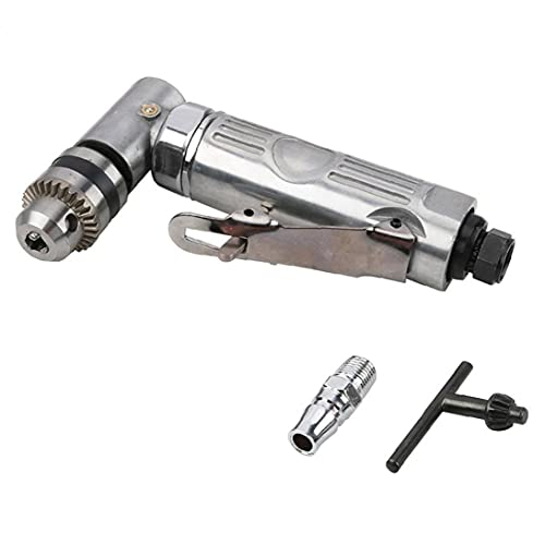 Right AngleDie Grinder 1/4 High Speed Right Angle Elbow 90 Degree Drill Silver Pneumatic Drill Tool