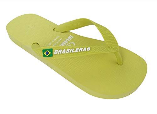 Chanclas de Playa BRASILERAS®,Clasica Brasil NL,Hecho en Br