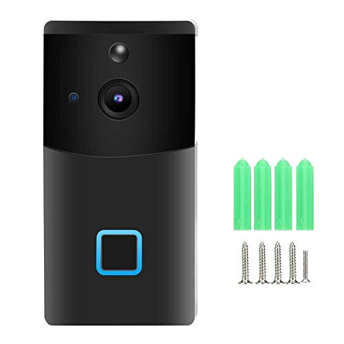 Timbre de la puerta, 1080P HD WiFi Vista nocturna Intercomunicador bidireccional Video Timbre de la puerta Sistema de intercomunicación con video Timbres inalámbricos para el hogar, práctico