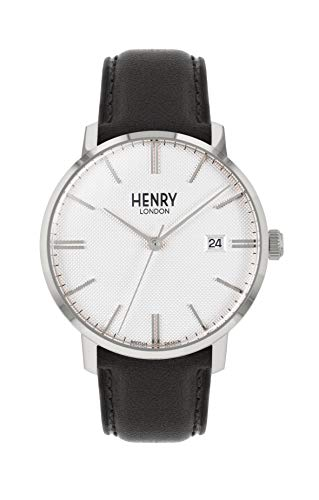 Henry London Orologio Analogico Quarzo Unisex Adulto con Cinturino in Pelle HL40-S-0347