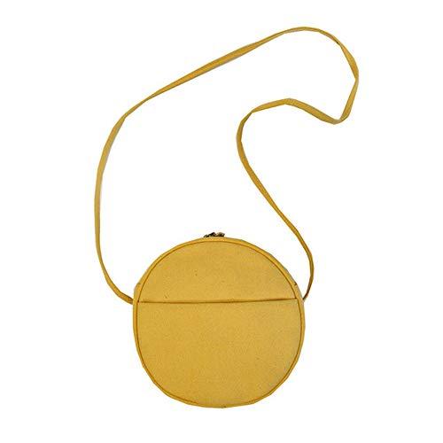 Bolso ligero de la honda de la moda del monedero del teléfono del bolso pequeño del crossbody bolso de la lona del hombro para las mujeres de, amarillo (Amarillo), Small