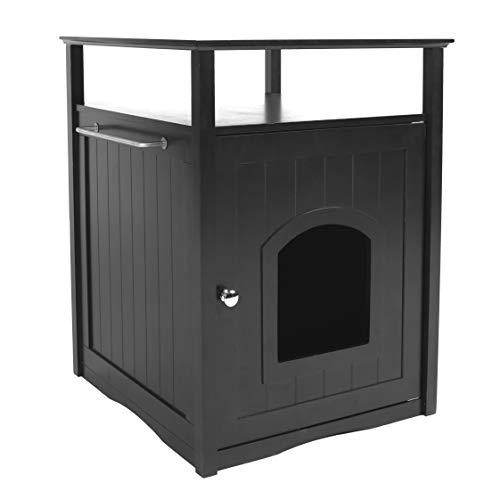 Merry Pet Cat Washroom/Night Stand Pet House – Hidden Litter Box Furniture