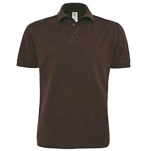 B&C Herren Polo Shirt Heavymill, Kurzarm (M) (Braun)