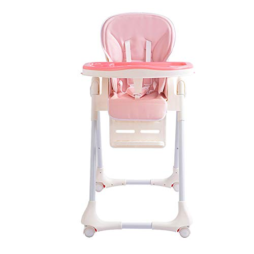 Great Deal! Baby Dining Chair Collapsible Portable Multifunctional Baby Stool Chair with Wheel Seat ...