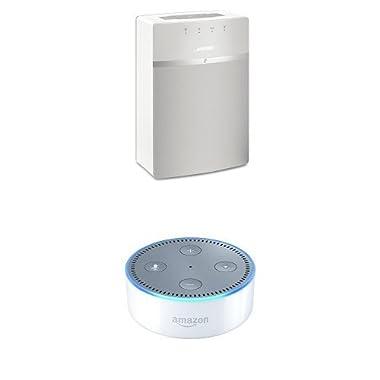 Bose SoundTouch 10 (White) + All-New Echo Dot (2nd Generation)