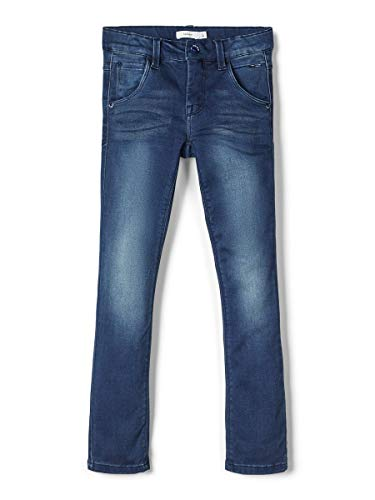 NAME IT Herren X-Slim Fit Jeans Super Stretch 146Dark Blue Denim