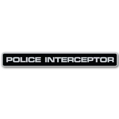 1x Police Interceptor emblem,3D emblems auto Decal Sticker for Car Accessories
