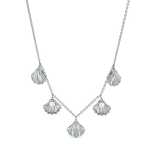 Swarovski Collana Shell Pearl, turchese, placcato rodio