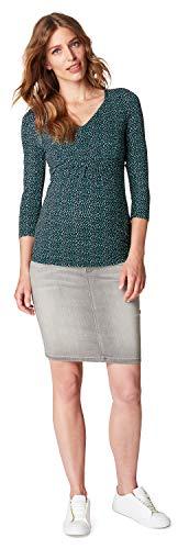 Love2Wait Sarah Jeans B999004 - Falda premamá para mujer, color gris oscuro Grey Denim 34
