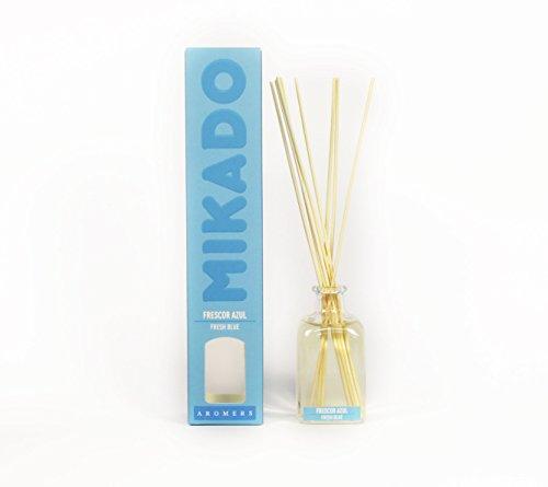 Ambientador Mikado 100 ml Aroma Frescor Azul (Limpio) con Palitos de Rattan