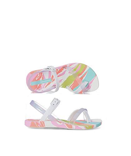 Ipanema Fashion Sand. VII Kids, Sandalias, White/Clear/Pink, 27 EU
