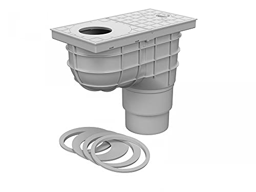 Cassetta dell'acqua piovana DN 110 125 combinata grigio 325 Cs