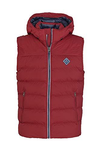 GANT Men's Active Cloud Vest Sleeveless Jacket Burgundy in Size Medium