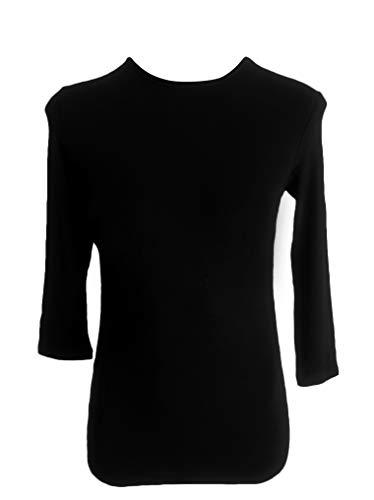 Kiki Riki Kids 3/4 Sleeve Shell Black Medium