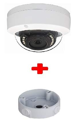 5MP PoE Security IP Camera-Compatible as Hikvision DS-2CD2155FWD-IZS 5MP Motorized auto Focus Network Dome Camera 3.3-12mm Lens Best for Home and Business Security (White + Junction Box)