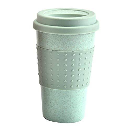 Guangcailun 300 ml Taza de Agua Cola de plástico Tazas de café de Trigo de la Paja de plástico tu Bebida Herramientas Tapa del Recipiente de múltiples Funciones