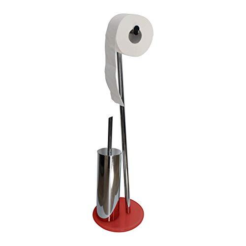 SANWOOD WC-Bürste mit Toilettenpapierhalter, Modell: Texas schwarz