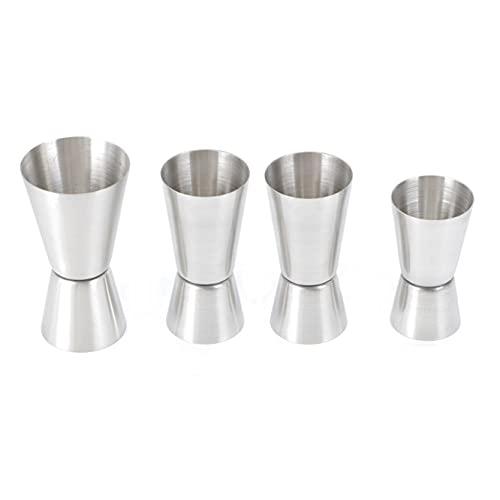 JZK 15/30ml 25/50ml 30/60ml set cocktail jigger acciaio inossidabile, 4 PCS set dosatore cocktail dimensioni miste, misure spirito, misurino per alcolici, misurino per cocktail